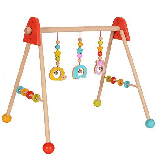 LCP Kids Baby Spielbogen Holz Trapez, Hngespielzeug hhenverstellbar