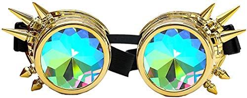 SFHTFTRGJRYJ Optik Sonnenbrille Damen Und Herren Mode Mode Living Driving Sonnenbrille Polarisierte Brille Sport Eyewear Kaleidoskop Bunte Gläser Rave Festival Party Sonnenbrille Beugungslinse
