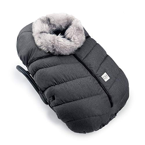 7AM Enfant Car Seat Covers - Cocoon Baby Cover for Boys & Girls, Rain & Snow Repellent, Breathable Windproof, Winter Protector, Center Zipper, Universal Fit for Infant Car Seat (0-12M) (Tundra)