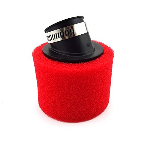 TC-Motor Red 38mm Bent Angled Foam Air Filter Pod For GY6 50cc Moped Scooter 110cc 125cc Dirt Pit Monkey Bike ATV Quad Motorcycle Motocross