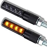 Motorrad LED Mini Blinker Bold schwarz smoke getönt 12V e-geprüft