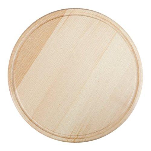 Piatto Tagliere Rotondo in Legno di Faggio Per Pizza 36 cm