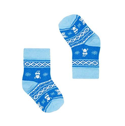 FAVES. Socks&Friends Père Noël Chaussettes pour bébé en taille 14-19 happy drôles colorées en coton