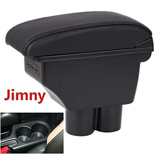 Doble capa Consolas Reposabrazos Caja para Jimny 2007-2018