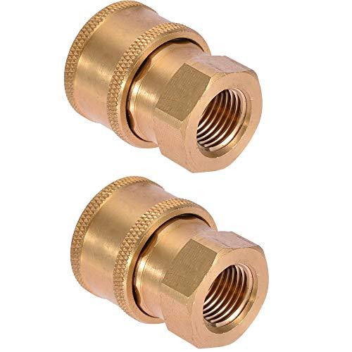 Hogedrukreiniger Snelle connector Kraan Slang snelkoppeling Sproeier wassen snel verbinden 1/4 inch Snelle connector,2pcs