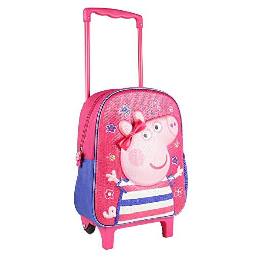 ARTESANIA CERDA Mochila Carro Infantil 3D Peppa Pig, Niñas, Rosa (Rosa), 10x31x25 cm (W x H x L)