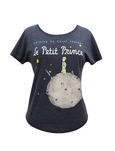 Camiseta feminina manga morcego com tema livro literário Out of Print, The Little Prince, Small