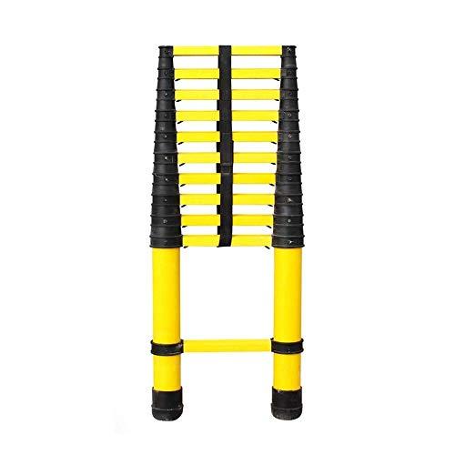 JJYGONG Escaleras Telescópicas de la Escalera Portátil Plegable Fibra de Vidrio Multi Propósito con Protección de Los Dedos, Escalera de Engineeextensión No Conductora de Trabajo Pes
