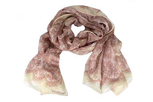 Valentino Damen Schal Scarf im Geschenkbox Made in Italy 7781s rose-beige