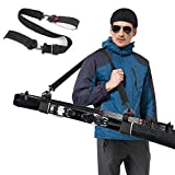 Odoland Ski Strap, Ski and Poles Carrier with Durable Cushioned Hook and Loop to Protect Skis from Scratches, Perfect Downhill Skiing and Backcountry Gear and Accessories, 1pc