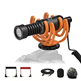Pixel Camera Video Microphone with 10ft Extension Cable, Professional Smartphone Shotgun Mic for iPhone, Nikon, Canon, Sony DSLR, Interview Videomicro Perfect for Recording YouTube
