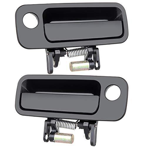 OCPTY Door Handles Exterior Front Driver Passeneger Side Replacement fit 1997-2001 Camry Outside Door Handles Black(2pcs)