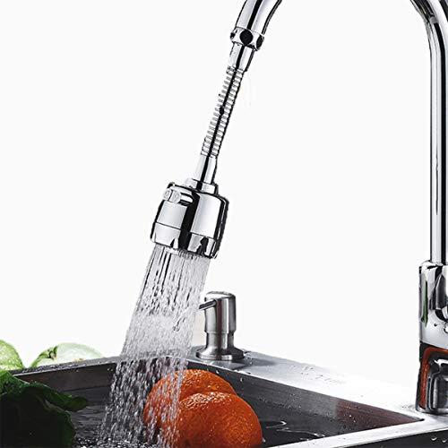 Grifo de 360° Aireador de grifo de ABS cromado pulido grifo de fregadero para baño cocina mezclador de agua accesorios de cocina extensor de grifo
