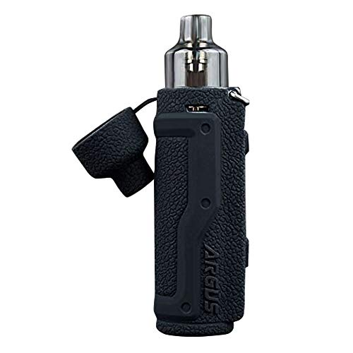 KKmod Silicone Cover for Voopoo Argus Pro 80W Case Protective Sleeve Skin Shield Wrap (Black)
