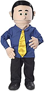 """30"""" George, Peach Dad / Businessman, Professional Performance Puppet with Removable Legs, Full or Half Body"""