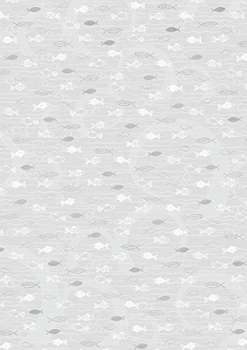 Baier & Schneider Transparent-Papier Transparentpapier Fische silber, DIN A4 (21x31cm inkl. Codier