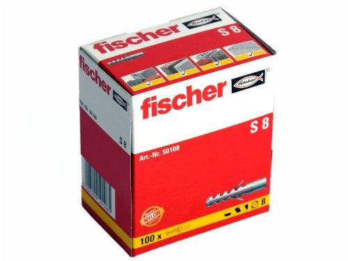 100 Stück Fischer Nylon Dübel S8 8x40 mm 50108
