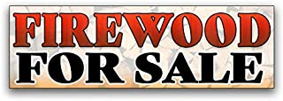 Firewood for Sale Vinyl Banner 8 Feet Wide by 2.5 Feet Tall