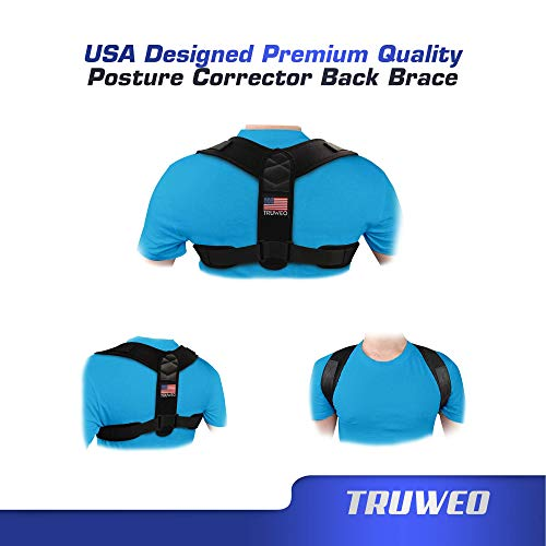 Posture Corrector For Men And Women - USA Designed Adjustable Upper Back Brace For Clavicle Support and Providing Pain Relief From Neck, Back and Shoulder (Universal)
