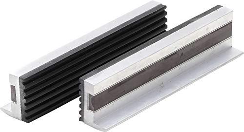 BGS 3044 | Schraubstock-Schutzbacken | 2-tlg. | Aluminium | Breite 125 mm | mit Magnet | Alu | Schonbacken