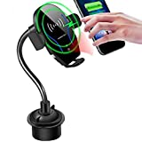 Car Cup Phone Holder&Air Vent Wireless Car Charger,[Automatic Infrared-Sensing]10W Fast Charging Car Phone Mount Fit for Samsung Galaxy S10/S10+,iPhone12/11/11 Pro/11 Pro Max/X/XS Max,QI-Enabled Phone