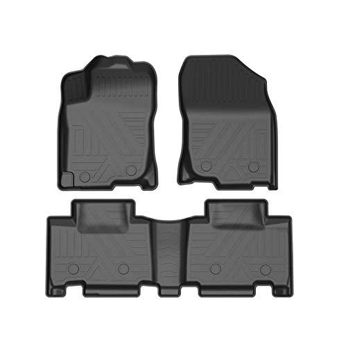 WANLING Juego de Alfombrilla de Goma Moqueta a Medida Ajustan para Toyota RAV4 2013-2018 5Asiento 3D Antideslizante Alfombras