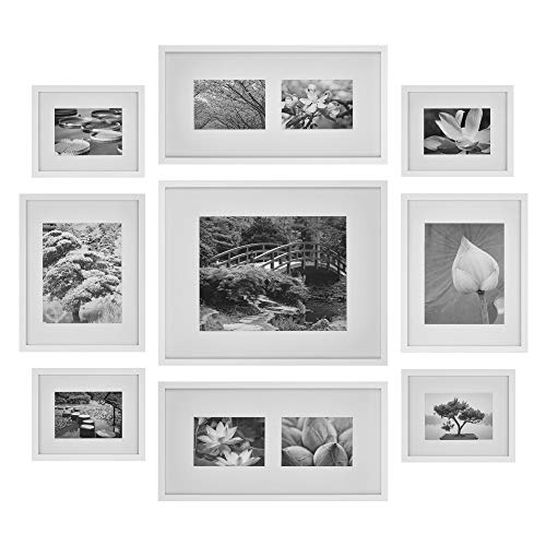 9 Piece Black Photo Frames Gallery Wall Kit