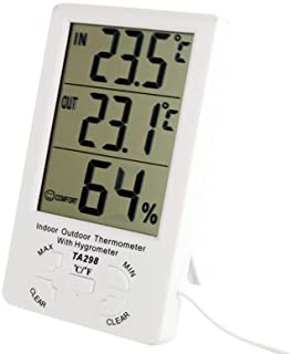 for Tang YI MING TL TA298 Digital LCD Humidity/Hygrometer and Thermometer with Extra Sensor Cable Messgerät