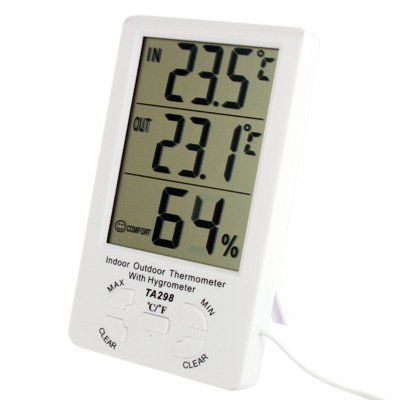 Tianxuan Thermometer Indoor Thermometer TA298 Digitale LCD Vochtigheid/Hygrometer en Thermometer met Extra Sensor Kabel thermostaat