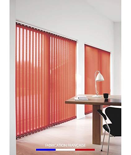 Kit completo de persianas californianas con láminas verticales 89 mm – 224 x 280 cm – Rojo