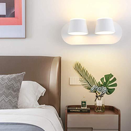 BBNBY Lámparas de Pared LED de 10 W para Dormitorio, lámpara de Pared de Metal Moderna, 350 & deg;Rotación, diseño de iluminación hacia Arriba y hacia Abajo, lámpara de Noche para niños, Pasillo,