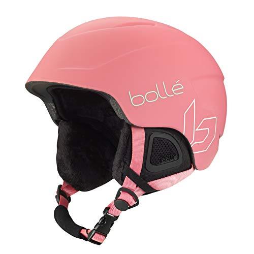 Bollé B-Lieve Cascos de esquí, Juventud Unisex, Rose Mint Matte, 53-57 cm
