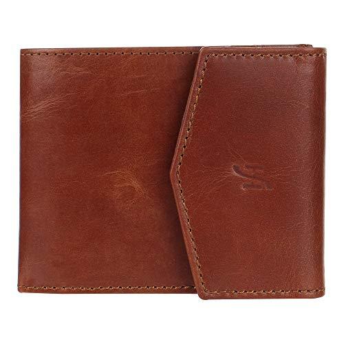 Starhide - Portafoglio da uomo in vera pelle con blocco RFID, con tasca esterna per ID 750 (TAN)