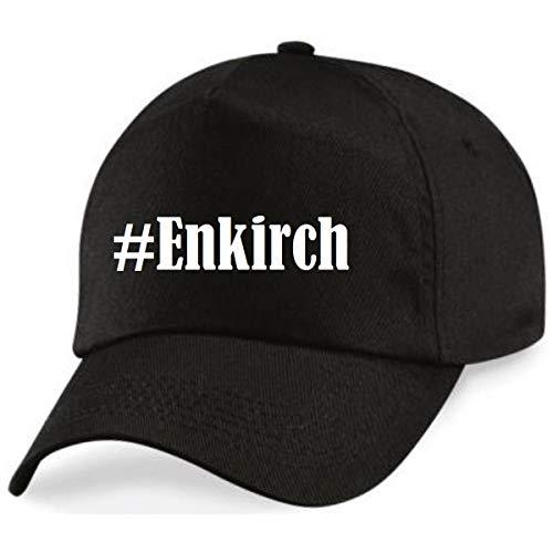 Base Cap Hashtag # Enkirch Baseball Cap Basecap Hashtag ruit voor dames heren en kinderen in de trendy kleuren zwart en wit Hip Hop Streetwear Baseball-pet met het grote scherm