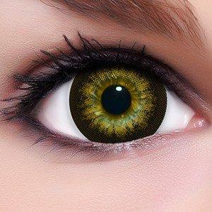 Circle Lenses braune Babe Brown ohne und mit Stärke + Behälter I 15mm I weich I 3 Monate anwendbar I Ohne und Mit Stärke