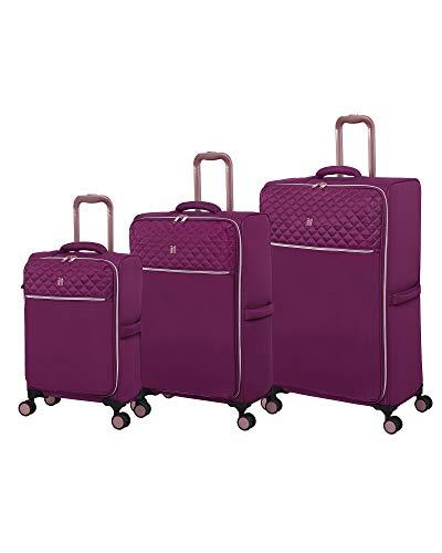 it luggage Divinity Softside Expandable TSA Lock Spinner, Raspeberry Radiance, 3-PIece Set