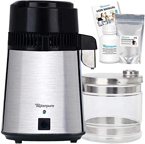 Destilador de agua, 100% acero inoxidable, nuevo modelo superior 2020, la mejor máquina purificadora de agua por Make Water Pure
