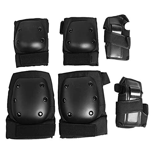 Okuyonic Handgelenk-Ellbogen-Knie-Protektoren, Safety Gear Pad Protective Support Function für Rollerblading für für Erwachsene(m)