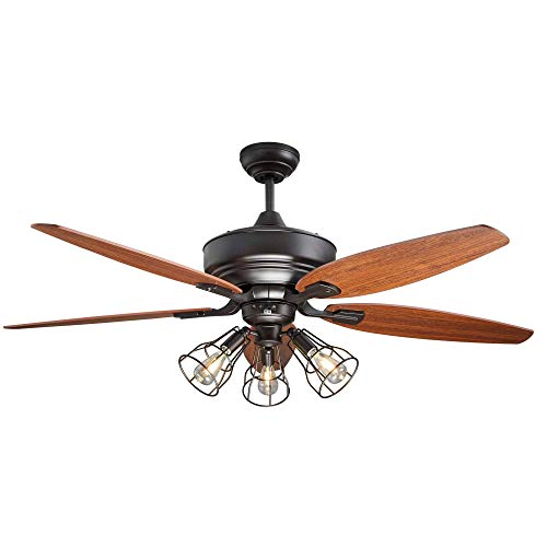 NOMA Ceiling Fan with Lights & Reversible Blades | Dimmable...