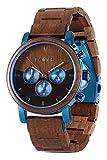 LAiMER Orologio da polso per uomo IVO - Cronografo al quarzo in legno noce, 43mm