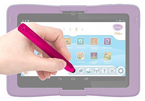 DURAGADGET Lápiz Stylus Rosa para La Tablet De Niños Cefatronic Tablet Clan/Clan 2 / Clan Tortugas Ninja/Advanced - ¡con Un Suave Puntero De Goma!