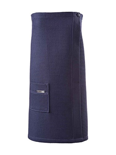 Taubert Thalasso Soft Piqué Damen Sauna Kilt, Länge 75cm Damen, 4900 navy