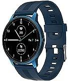 PKLG Smart Watch, 1,3 pollici schermo intero rotondo, multi-quadrante, promemoria chiamate/messaggio, modalità sportive multiple, impermeabile IP68 (colore : bianco) (blu)
