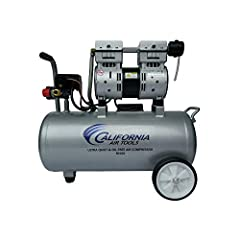 Ultra quiet only 60 decibels Oil-free pump for less maintenance & costs Lightweight & rust free - only 37.25 lbs. 120 PSI Maximum Pressure Powerful 1.0 HP (rated/ running) 2.0 HP (peak) motor 2.20 CFM @ 90 PSI