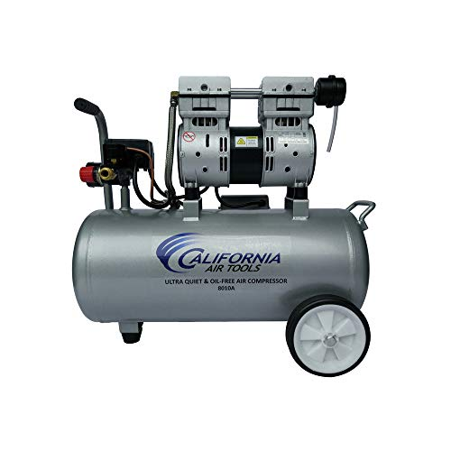 California Air Tools 8010A Aluminum Tank Air Compressor | Ultra Quiet, Oil-Free, 1.0 hp, 8 gal