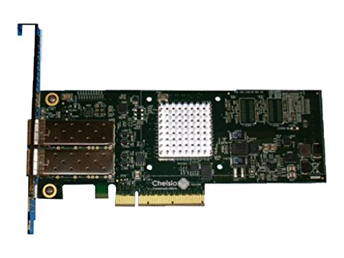 CHELSIO COMMUNICATIONS T520-SO-CR 2-Port Low Profile 1/10GbE Server Offload Adapter with PCI-E x8 Gen 3, SFP+ Connector