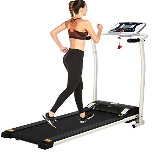 ANCHEER Folding Space Saving Electric Indoor Treadmill for Exercise Now $265.99