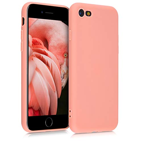 kwmobile Cover Compatibile con Apple iPhone 7/8 / SE (2020) - Custodia in Silicone TPU - Backcover Protezione Posteriore- Corallo Matt