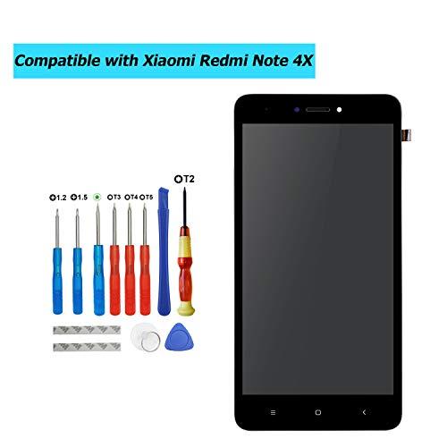 Upplus - Pantalla LCD de Repuesto Compatible con Xiaomi Redmi Note 4X/Note 4 Global (Qualcomm Snapdragon 625 CPU), reparación de Pantalla táctil con Marco y Juego de Herramientas (Negro)
