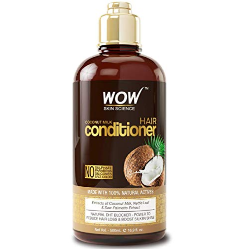 Price comparison product image WOW Coconut Milk Hair Conditioner,  Restore Dry,  Frizzy,  Tangled Hair to Stronger,  Full,  Shiny Hair,  Stimulate Hair Growth,  Paraben,  Salt,  Sulfate Free,  All Hair Types,  Adults and Children,  500 mL
